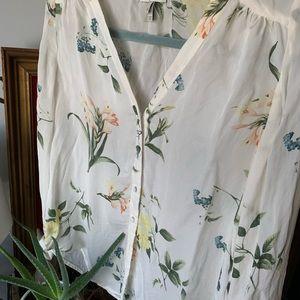 Gorgeous Joie floral silk blouse